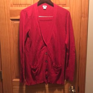 Red button up cardigan, size XL from Mossimo